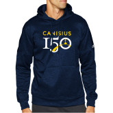 College Adidas Navy Team Issue Hoodie-Sesqui Text