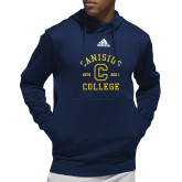 College Adidas Navy Team Issue Hoodie-Retro Logo 1