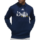 College Adidas Navy Team Issue Hoodie-Retro Logo 2