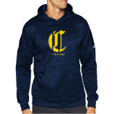 College Adidas Navy Team Issue Hoodie-Retro Logo 3