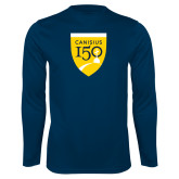 College Performance Navy Longsleeve Shirt-Sesqui Crest