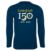 College Performance Navy Longsleeve Shirt-Sesqui Crest Dates