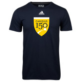 College Adidas Climalite Navy Ultimate Performance Tee-Sesqui Crest