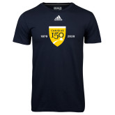 College Adidas Climalite Navy Ultimate Performance Tee-Sesqui Crest Dates
