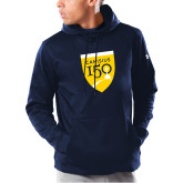 College Under Armour Navy Armour Fleece Hoodie-Sesqui Crest