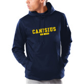 College Under Armour Navy Armour Fleece Hoodie-Retro Logo 4