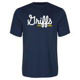 College Performance Navy Tee-Retro Logo 2