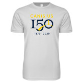 College Next Level SoftStyle White T Shirt-Sesqui Crest Dates