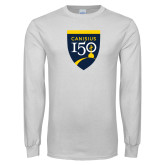 College White Long Sleeve T Shirt-Sesqui Crest