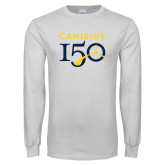 College White Long Sleeve T Shirt-Sesqui Text