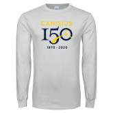 College White Long Sleeve T Shirt-Sesqui Crest Dates