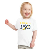 College Toddler White T Shirt-Sesqui Text