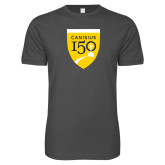 College Next Level SoftStyle Charcoal T Shirt-Sesqui Crest