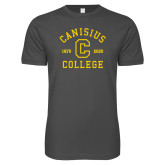 College Next Level SoftStyle Charcoal T Shirt-Retro Logo 1