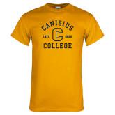 College Gold T Shirt-Retro Logo 1