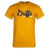 College Gold T Shirt-Retro Logo 2