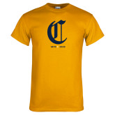 College Gold T Shirt-Retro Logo 3