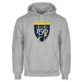 College Grey Fleece Hoodie-Sesqui Crest
