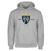 College Grey Fleece Hoodie-Sesqui Crest Dates