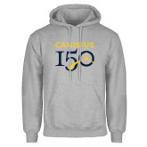 College Grey Fleece Hoodie-Sesqui Text