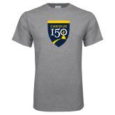College Grey T Shirt-Sesqui Crest
