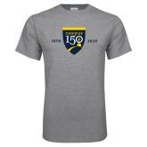 College Grey T Shirt-Sesqui Crest Dates