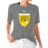 College Ladies Under Armour Heather Grey Triblend Tee-Sesqui Crest