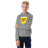 College Youth Under Armour Grey Fleece Hoodie-Sesqui Crest