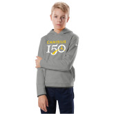 College Youth Under Armour Grey Fleece Hoodie-Sesqui Text