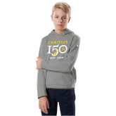 College Youth Under Armour Grey Fleece Hoodie-Sesqui Crest Dates