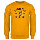 College Gold Fleece Crew-Retro Logo 1