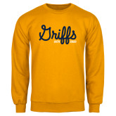 College Gold Fleece Crew-Retro Logo 2