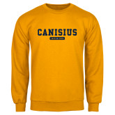 College Gold Fleece Crew-Retro Logo 4