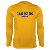 College Performance Gold Longsleeve Shirt-Retro Logo 4