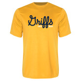 College Performance Gold Tee-Retro Logo 2