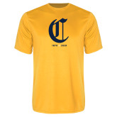 College Performance Gold Tee-Retro Logo 3