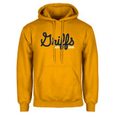 College Gold Fleece Hoodie-Retro Logo 2