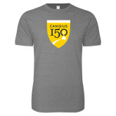 College Next Level SoftStyle Heather Grey T Shirt-Sesqui Crest