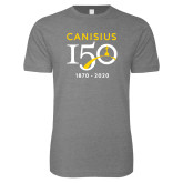 College Next Level SoftStyle Heather Grey T Shirt-Sesqui Crest Dates
