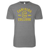 College Next Level SoftStyle Heather Grey T Shirt-Retro Logo 1