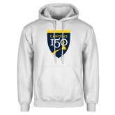 College White Fleece Hoodie-Sesqui Crest