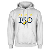 College White Fleece Hoodie-Sesqui Text