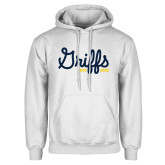 College White Fleece Hoodie-Retro Logo 2