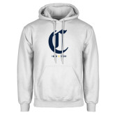 College White Fleece Hoodie-Retro Logo 3