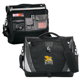 Slope Black/Grey Compu Messenger Bag-Canisius w/ Griff Stacked