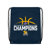 Navy Drawstring Backpack-Mens Basketball Regular Season Champions