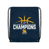 Navy Drawstring Backpack-Mens Basketball Regular Season Champions