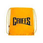 Gold Drawstring Backpack-Griffs Wordmark