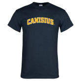 Navy T Shirt-Arched Canisius