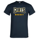 Navy T Shirt-Hockey